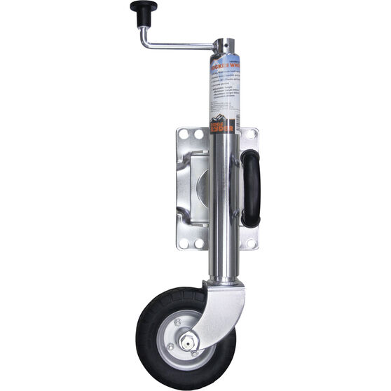 Ridge Ryder Swing Jockey Wheel - 6 inch, Chrome, , scanz_hi-res