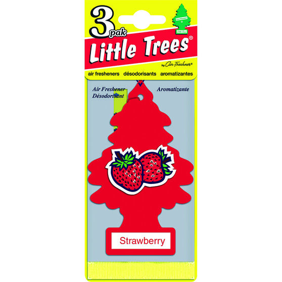 Little Trees Air Freshener - Strawberry, 3 Pack, , scanz_hi-res