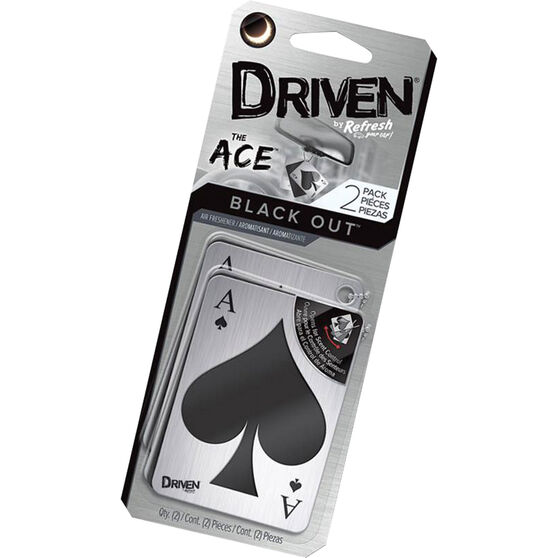 Driven The Ace Air Freshener - Black Out, , scanz_hi-res