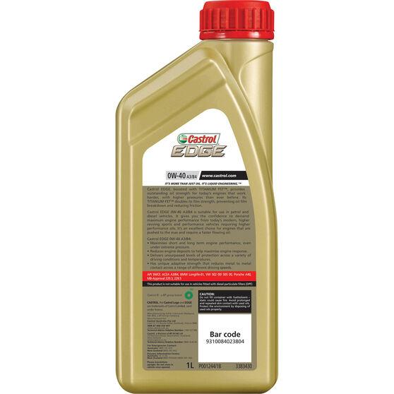 Castrol Edge Engine Oil - 0W-40 1 Litre, , scanz_hi-res