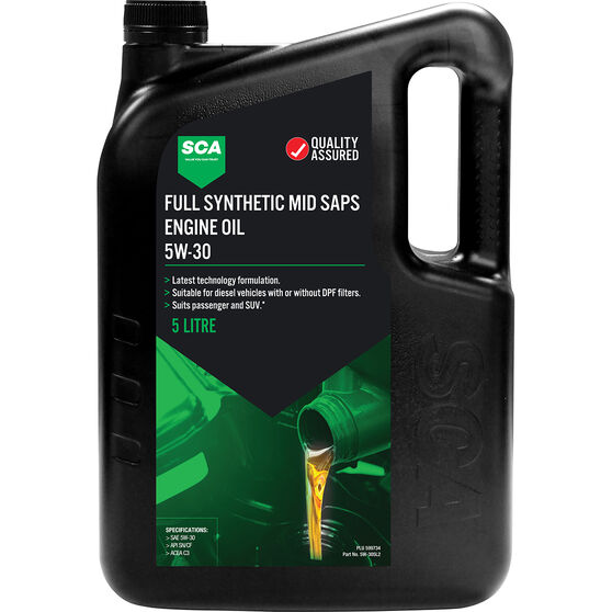 SCA Full Synthetic Engine Oil C3 5W-30 5 Litre, , scanz_hi-res