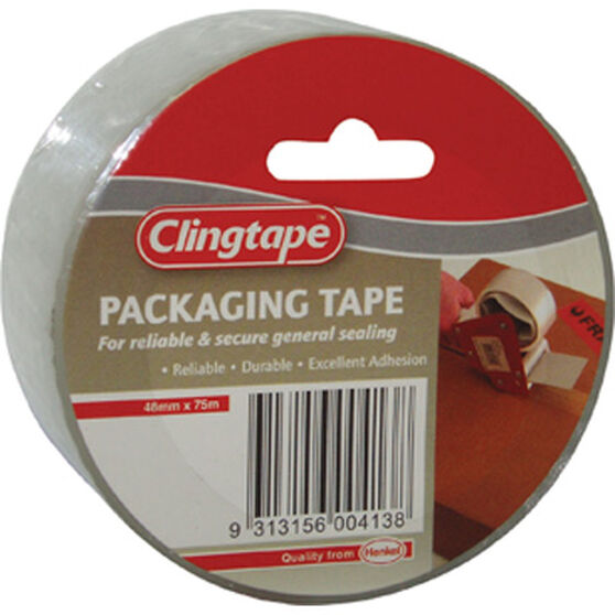 Packaging Tape - Clear, 48mm x 75m, , scanz_hi-res