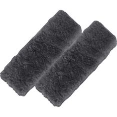 SCA Seat Belt Buddies - Sheepskin, Black, Pair, , scanz_hi-res