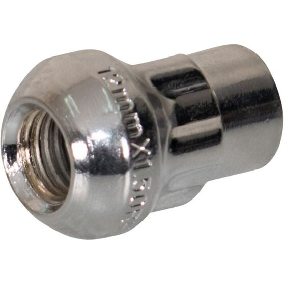 Calibre Wheel Nuts, Tapered Lock, Chrome - SLN12150, 12mm x 1.5mm, , scanz_hi-res