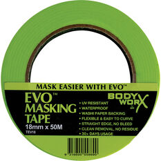Bodyworx EVO Masking Tape - 18mm x 50m, , scanz_hi-res