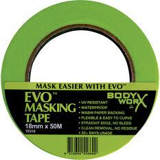 Bodyworx EVO Masking Tape - 18mm x 50m, , scanz_hi-res