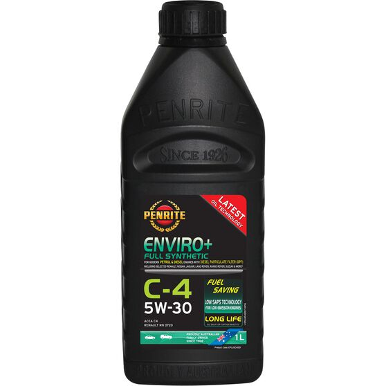Penrite Enviro+ C4 Engine Oil - 5W-30 1 Litre, , scanz_hi-res