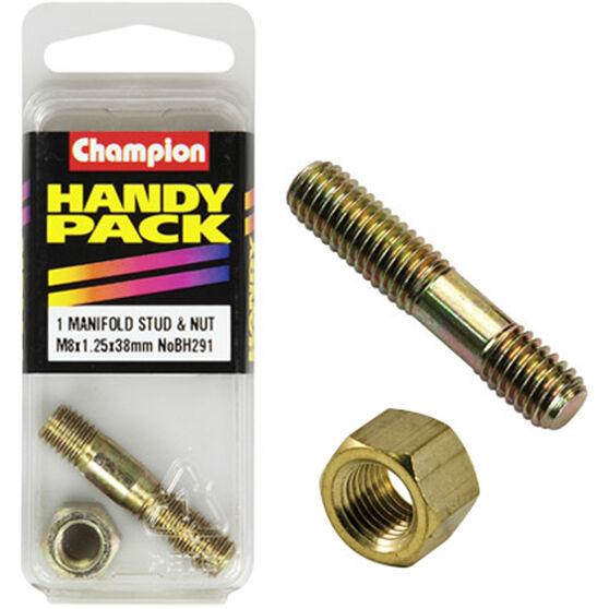 Champion Manifold Stud - M8 X 38, BH291, Handy Pack, , scanz_hi-res