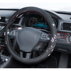 SCA Steering Wheel Cover - Blossom Mesh, Black/Orange/Purple, 380mm diameter, , scanz_hi-res