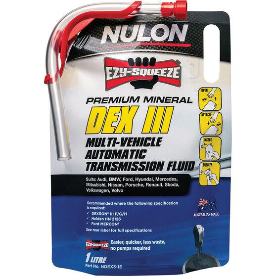 Nulon EZY-SQUEEZE Dex III Multi-Vehicle Automatic Transmission Fluid 1 Litre, , scanz_hi-res