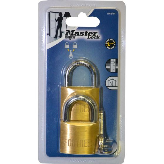 Master Lock Fortress Padlock - 40mm, 2 Pack, , scanz_hi-res