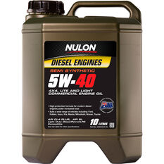 Nulon Semi Synthetic Diesel Engine Oil - 5W-40 10 Litre, , scanz_hi-res