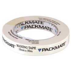 Packmate Masking Tape - 18mm x 50m, , scanz_hi-res