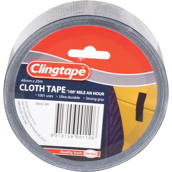 Clingtape Cloth Tape - Blue, 48mm x 25m, , scanz_hi-res
