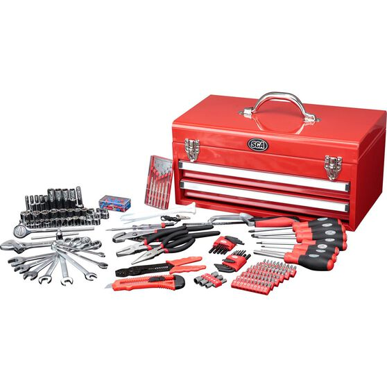 Tool Kit - 2 Drawer Chest, 230 Piece, , scanz_hi-res