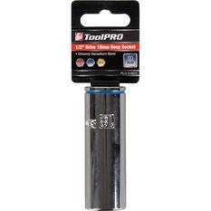 ToolPRO Single Socket - Deep, 1 / 2 inch Drive, 18mm, , scanz_hi-res