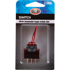 Switch - Toggle, Off/On, Illuminated, Red, , scanz_hi-res