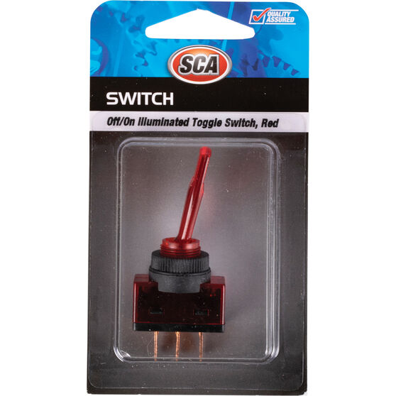 SCA Switch - Toggle, Off / On, Illuminated, Red, , scanz_hi-res