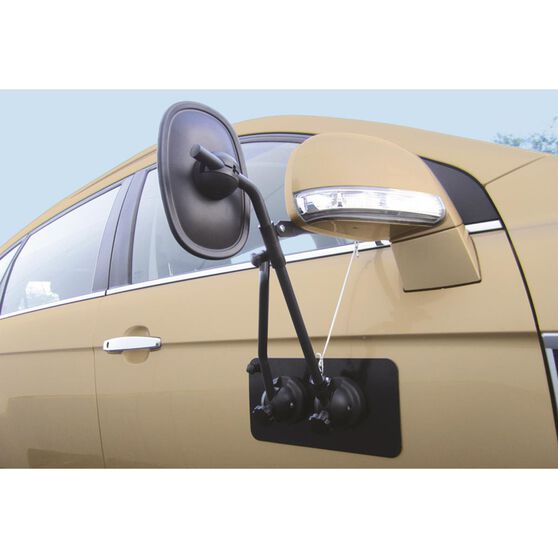 Drive Towing Mirror - With Magnetic Support Pad Single, , scanz_hi-res