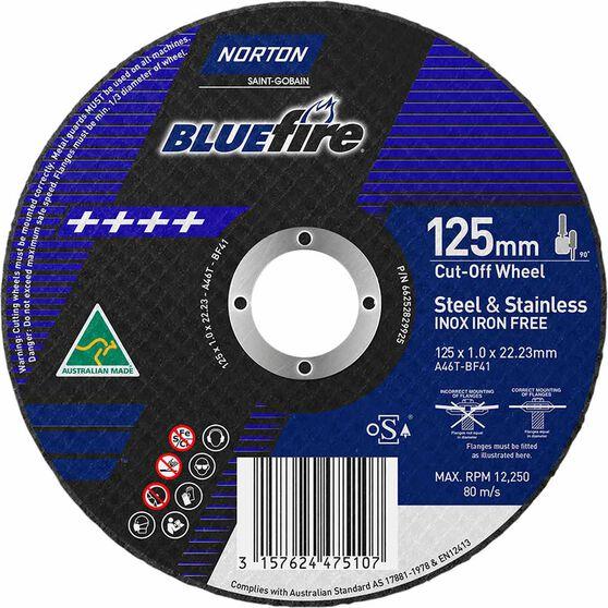 Norton Metal Cut off Disc 125mm x 1.0mm x 22mm, , scanz_hi-res