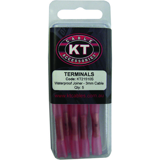 KT Cable Waterproof Butt Splice - Red, 5 Pack, , scanz_hi-res