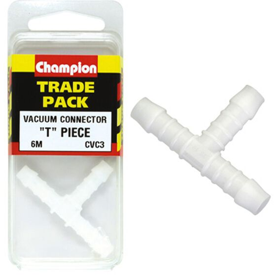 Champion T Pieces - 6mm, CVC3, Trade Pack, , scanz_hi-res