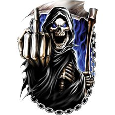 Sticker - Reaper Finger Chains, Vinyl, , scanz_hi-res