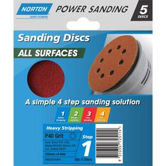 Norton Disc Sander 40 Grit 125mm, , scanz_hi-res