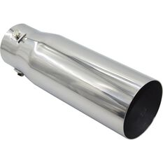 Calibre Stainless Steel Exhaust Tip - Straight Cut Tip suits 40mm to 52mm, , scanz_hi-res