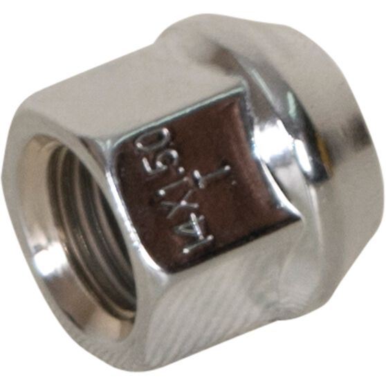 Calibre Wheel Nuts, Tapered Open End, Chrome - OEN14150, 14mm x 1.5mm, , scanz_hi-res