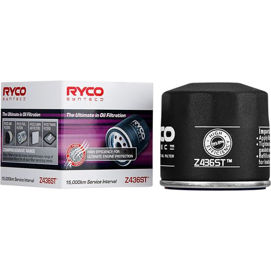 Ryco Syntec Oil Filter Z436ST (Interchangeable with Z436), , scanz_hi-res