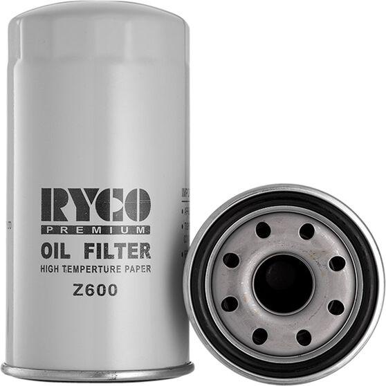 Ryco Oil Filter Z600, , scanz_hi-res