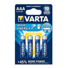 Varta High Energy Battery - AAA, 4 Pack, , scanz_hi-res