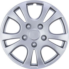 Best Buy Wheel Covers - Horizon, 15 inch, Silver, 4 Piece, , scanz_hi-res