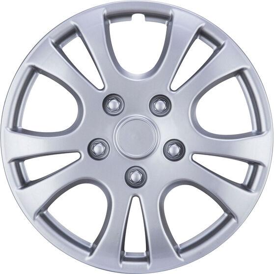 Best Buy Wheel Covers - Horizon, 15 inch, Silver, 4 Piece, , scanz_hi-res