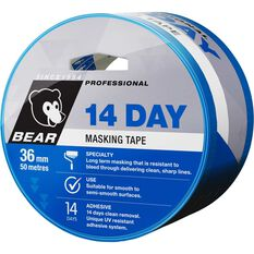 Norton 14 Day Masking Tape - Blue, 36mm x 50m, , scanz_hi-res