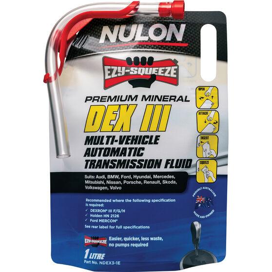 NULON EZY-SQUEEZE Dex Iii Multi-Vehicle Automatic Transmission Fluid - 1 Litre, , scanz_hi-res