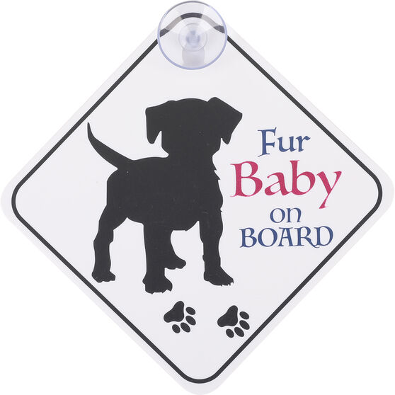Cabin Crew Pets Window Sign - My Kids Have Paws, , scanz_hi-res