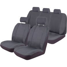 Canvas Tailor Made Seat Cover Pack to suit Ford Ranger - Charcoal, , scanz_hi-res
