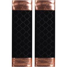Metallic Print Seat Belt Buddies - Rose Gold and Black, Pair, , scanz_hi-res