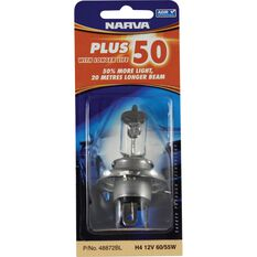 Narva Headlight Globe - Plus 50, H4, 12V, 60/55W, , scanz_hi-res