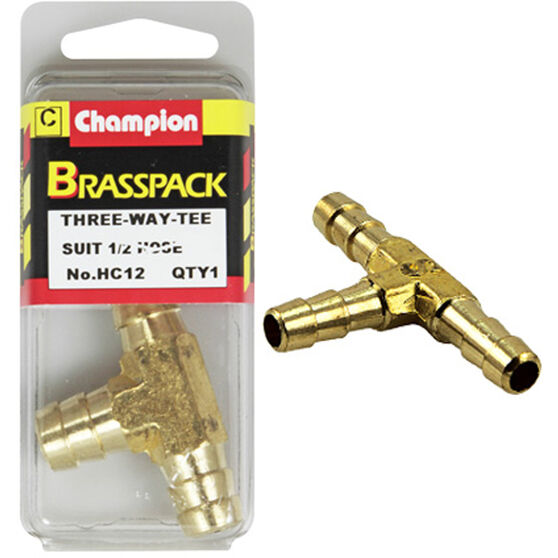 Champion T Pieces - 1 / 2inch, Brass, , scanz_hi-res