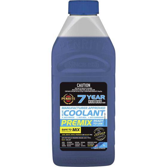 Penrite Blue Long Life Anti Freeze / Anti Boil Premix Coolant - 1L, , scanz_hi-res