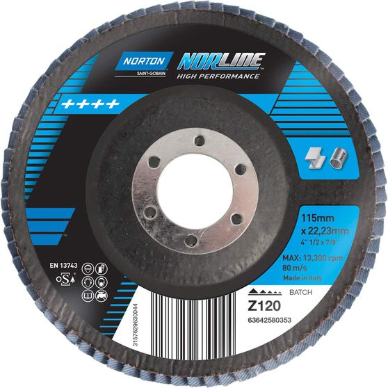 Norton Flap Disc - 120 Grit, 115mm, , scanz_hi-res