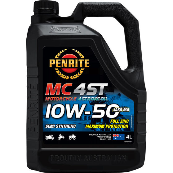 Penrite MC-4ST Semi Synthetic Motorcycle Oil 10W-50 4 Litre, , scanz_hi-res
