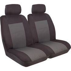 Seat Covers - Black, Front Pair, Adjustable Headrests, Size 30, , scanz_hi-res