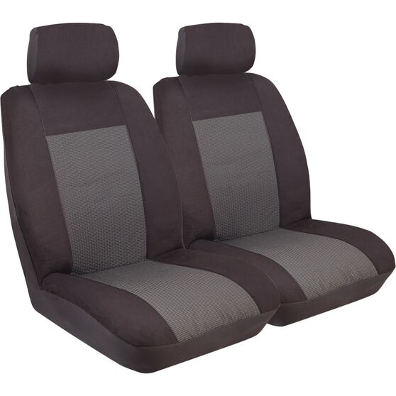 Imperial Seat Covers - Black, Front Pair, Adjustable Headrests, Size 30, , scanz_hi-res
