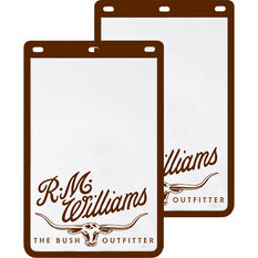 R.M.Williams Mudflaps - Pair, White, , scanz_hi-res