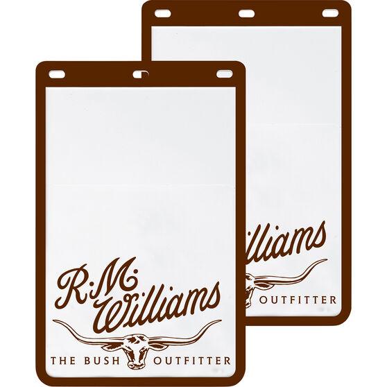 R.M.Williams Mudflaps - Pair, White, , scanz_hi-res
