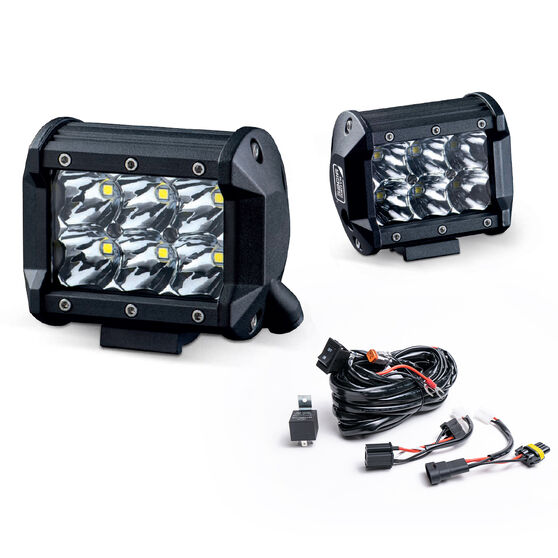 Ridge Ryder 100mm LED Driving Lights 25W with harness, , scanz_hi-res